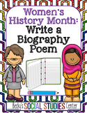 Women's History Month for Middle School: Write a Biography Poem