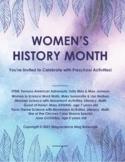 Women's History Month for STEM Preschool