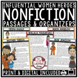 Digital Womens History Month Nonfiction Reading Comprehension Passages Questions