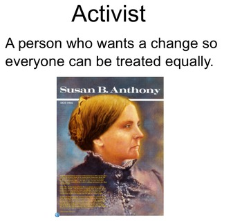 Women's History Notebook Slides