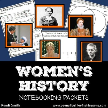 Women's History Notebooking Pages Bundle
