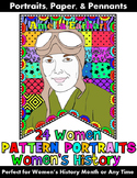 """Women's History Month: """"Pattern Portraits"""": Women's History Writing Banners"""