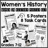 Women's History Poster Set and Task Cards/Bell-ringers (Set #3)
