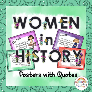 Women's History Posters with Quotes