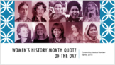 Women's History Quote of the Day