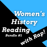 Famous Women in History Activities with Songs, Women in History Worksheet Bundle