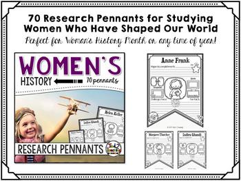 Women's History Research Pennants