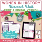 Women's History Research Project and Unit- Women in History Biographies