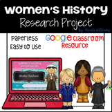 Women's History Research Project with Google Slides