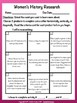 Women's History Research Tic Tac Toe Differentiated Learning Plan