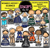 Women's History – Science Clip Art Bundle {Educlips Clipart}