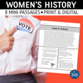 Womens History Reading Comprehension Passages