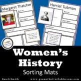 Women's History Sorting Mats