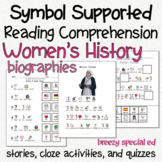 Women's History - Symbol Supported Picture Reading Compreh