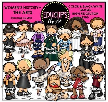 Women's History – The Arts Clip Art Bundle {Educlips Clipart}