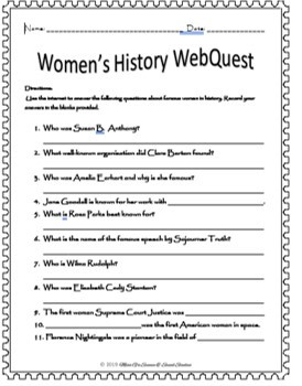 Women's History WebQuest