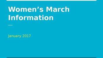 Women's March Information