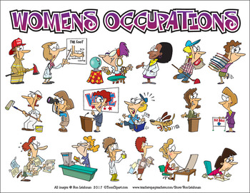 Women's Occupations Cartoon Clipart
