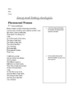 Women's Poetry and Song Analysis