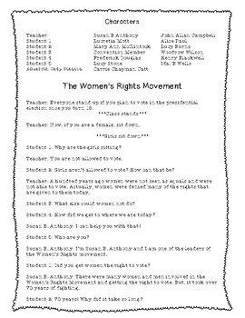 Women's Rights Movement Activity Pack