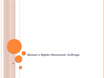 Women's Rights Notes: Suffrage