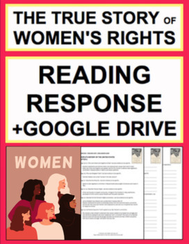 Women's Rights Reading Response Questions, Answer Key + Google Doc