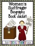 Women's Rights Suffrage Movement - Create a Biography Book Cover of a Leader