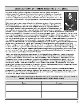Women's Suffrage 1920's Political Cartoon Activity