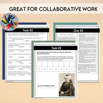 Women's Suffrage BUNDLE: Scavenger Hunt, PowerPoint, Student Booklet, Assessment