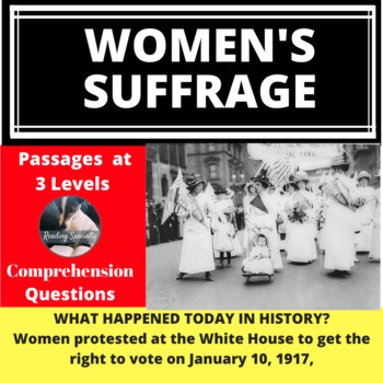 Women's Suffrage Differentiated Reading Passage January 10