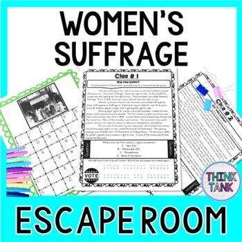 Womens Suffrage Escape Room 19th Amendment Voting Rights Print