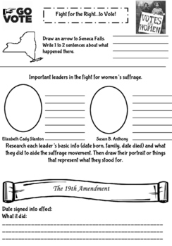 Women's Suffrage Notetaking Sheet