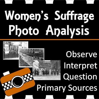 Women's Suffrage Photo Analysis Activity