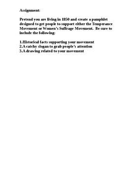Women's Suffrage PowerPoint Worksheet