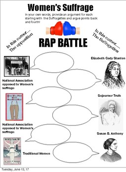 Women's Suffrage Rap Battle 2 verison