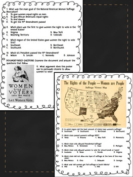 Women's Suffrage, Susan B. Anthony Biography Reading Comprehension Bundle