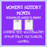 Women's history month scrambled words no prep printable wo