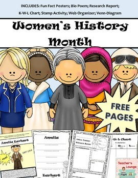 Women's History Activities - Posters, Research Templates, Bio Poems and More!