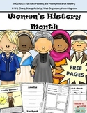 Women's History Activities - Posters, Research Templates,
