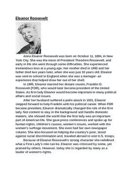 Women's History Activity (With Higher Order Thinking Questions)