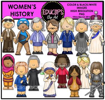 Women's History Clip Art Bundle {Educlips Clipart}
