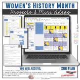 Women's History Month Video Notes & BINGO Menu Board {Google Digital Resource}