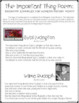 Women's History Freebie The Important Thing Biography Poem for 3rd - 6th Grade