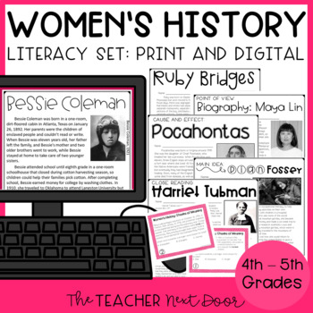Women's History Literacy Set for 4th - 5th Grade