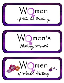 Women's History Mini Research Fold-Ems, GOs and Writing Templates