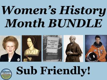 Women's History Month Activities Bundle