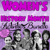Women's History Month Interactive Activities Bundle {CCSS Aligned}
