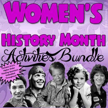 Women's History Month Activities Bundle {CCSS Aligned}