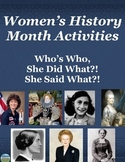 Women's History Month Activity
