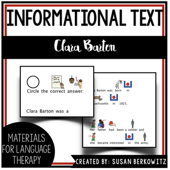 Women's History Month Adapted Biography Clara Barton Special Education